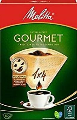 Melitta Gourmet 1 X 4 Filters For Coffee Pack Of 80 Paper Filters - Mel6763165