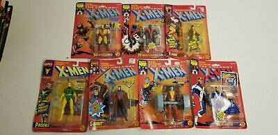 X-Men TOYBIZ Action Figures 1991 Sealed NM/NM+ Lot of 7 with Beautiful Cards !
