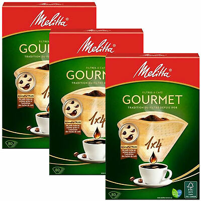 240 Melitta Gourmet 1 X 4 Filters For Coffee Brown Paper Filters - Mel6763165X3