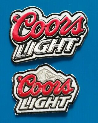 2 LOT COORS Embroidered Iron Or Sewn On BEER Patches Free Ship