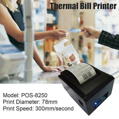80MM POS Receipt Thermal Printer Waterproof Oil Proof USB Network Serial Port