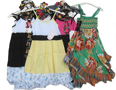 Wholesale Job Lot of Girls Dresses with Necklaces x 10 Ages 4Y up to 14Y