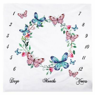 Newborn Baby Number Butterfly Pattern Mat Blanket Photography Backdrop Cloth Hot