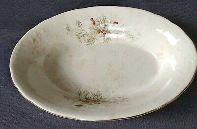 Antique Laughlin China Semi-Vitreous - Colonial - Serving Bowl - Holly Berries