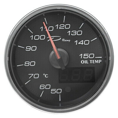 Oil temperature digital gauge 60mm - full 240 digree sweep - Depo racing brand