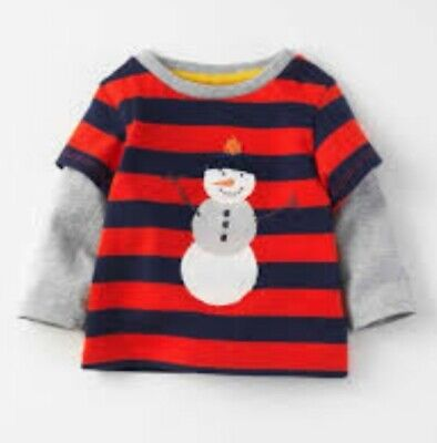 Baby Boden Boys Snowman T-Shirt Age 18-24 Month 2-4 Years LAST FEW! Baby