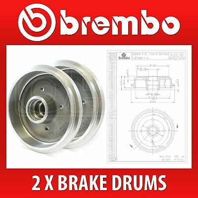 BREMBO Pair Brake Drum 14.3171.10 - Fits HONDA