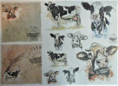 Rice Paper for Decoupage Scrapbook Craft Animals Goat 284
