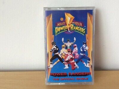 Vintage Saban Mighty Morphn Power Rangers The Official Single Cassette Tape 1994