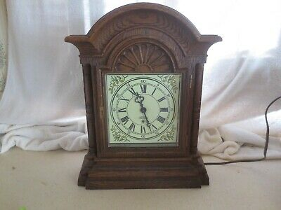 Sunbeam 428A - D Series Faux Wood Electric Chiming Clock - Works
