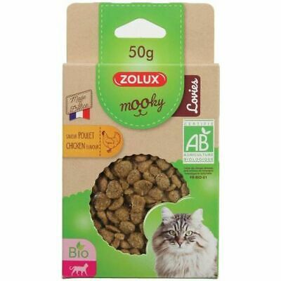 Friandise Mooky Bio Chat Lovies Poulet 50G