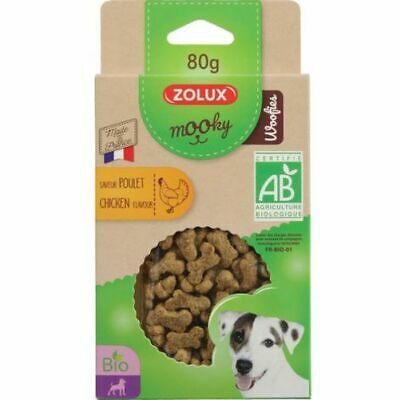 Friandise Mooky Bio Woofies Poulet 80G