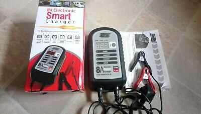Maypole 8amp Smart Car Battery Charger Reconditioner Checker AGM