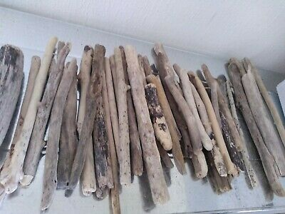 8 straight pieces of driftwood 20cm average arts crafts decor