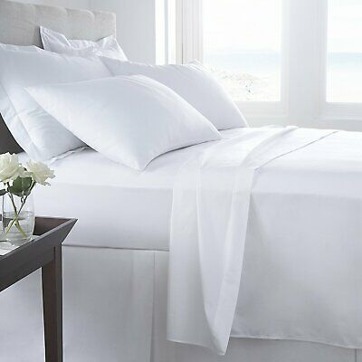 400 Thread Count Egyptian Cotton Sateen Fitted Sheet Or Pillow Pair Hotel Qualit