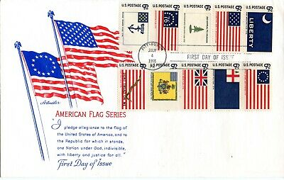 HISTORIC AMERICAN FLAG SERIES 1st Day Cover (Scott's #1345-1354)(1968) Artmaster