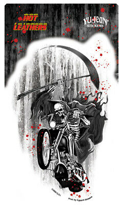 Autocollant Biker - Grim Reaper / Skull - Sticker Vinyl Decoration Usa / Biker