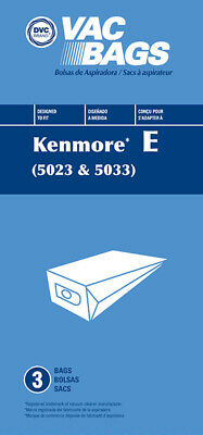 Kenmore 5023 5033 20-5033 Type E Vacuum Cleaner Bags Sears Canister Style Vac
