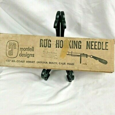Rug Hooking Needle Instructions Wood Handle Montell Designs No Wire Threader