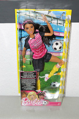 Barbie, doll, Puppe,Modepuppe,Made to Move,fußball, SOCCER PLAYER,FCX82