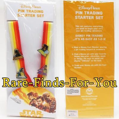 Disney Park Solo A Star Wars Story Movie Lanyard 4-Pin Trading Starter Set (NEW)