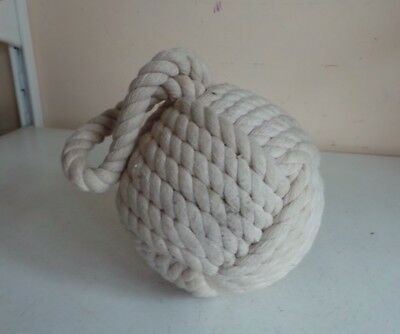 Large Nautical Knotted Jute Rope Sailor Knot Doorstop Bookend Book Holder 2.2KG