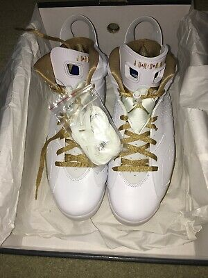 promo code 87b2f 177b0 Nike Air Jordan 6 VI Retro White Gold GMP Golden Moments Size 13. 535357-