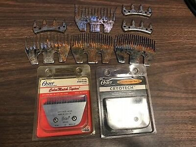 Lot Of 9 Oster Blade Clippers Shears