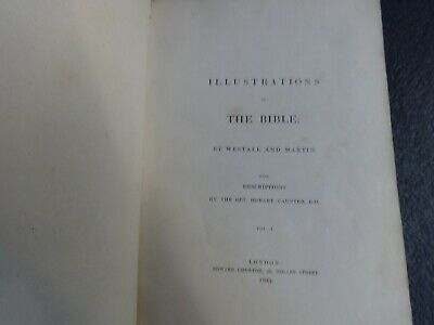 Illustrations to or of the bible Westall & Martin H Caunter 1835 vol 1/2/3