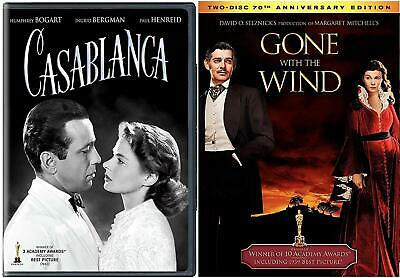 GONE WITH THE WIND  &  CASABLANCA  70 Anniversary Double Feature