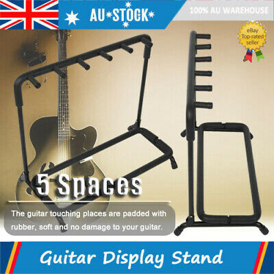 Sturdy Metal Guitars Display Stand Rack Holder Instrument Accessory 5 Spaces AU