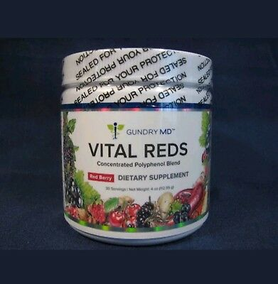 Gundry MD ...*Vital Reds*...*Polyphenol Blend* 4 oz Berry ...*Sealed * Ret $70
