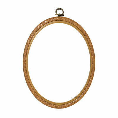 Plastic Natural Colour Frame to Display Needlecraft Pieces,Oval Shape |10 x 14cm