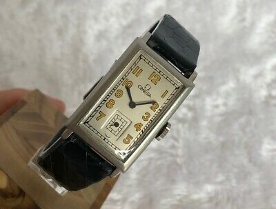 OMEGA MANUAL  22x40mm VINTAGE ART DECO STEEL  WRIST WATCH FOR MEN