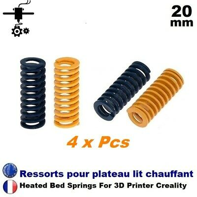 4 x Ressort plateau lit chauffant 20 mm Heated Bed Spring Imprimante 3D Printer