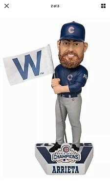 Jake Arrieta Chicago Cubs World Series Championship Bobblehead Fly The W