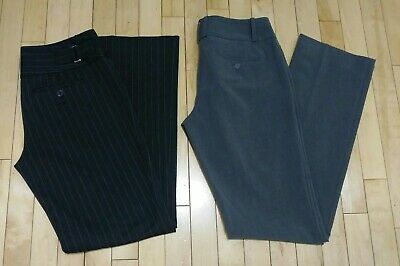 LOT OF 2 The Limited Collection DREW Gray, Express EDITOR Pinstripe Dress Pant 4