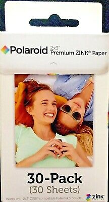 2X30pk POLAROID 2x3 Inch PREMIUM ZINK Photo Paper TOTAL 60 Sheets BRAND NEW!