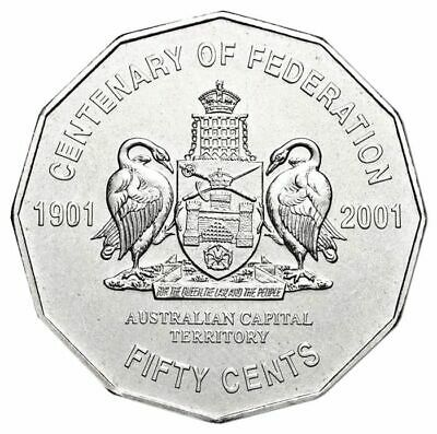 Centenary of Federation 2001 50c Australian Capital Territory