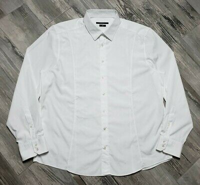 9aa4a40aa GUCCI MEN'S WHITE Long Sleeve Slim Dress Shirt US 18 IT 46 - $135.99 ...