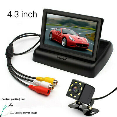 """4.3"""" inch Foldable TFT LCD Monitor+ Car Rear View System Backup Reverse Camera"""
