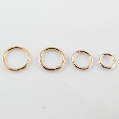 Bulk Rose Gold Jump Rings Open Jumprings Findings Craft Select size FREE POST