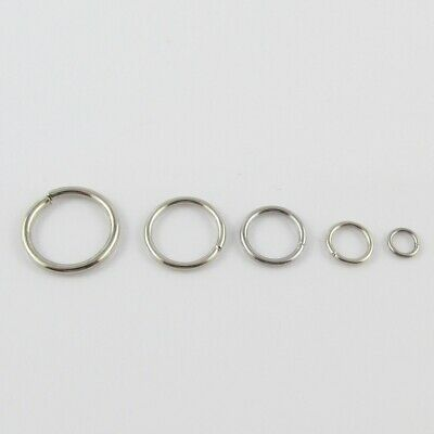 Bulk Silver Tone Jump Rings Open Jumprings Findings Craft Select Size FREE POST