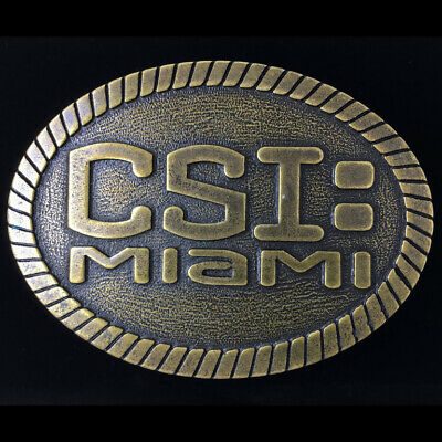 Vtg CSI Miami Tv Television Series Show Cast Crew Only Collectible Belt Buckle