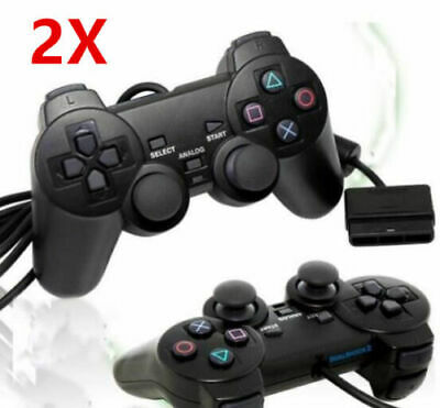 2x Controlador remoto Gamepad inalámbrico Joypad Game para Sony PS2 Playstation2