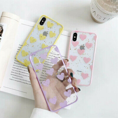 Bling Glitter Clear Ultra Thin Love Case Cover iPhone XS Max XR X 8 7 6s 6 Plus
