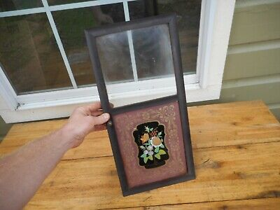 Antique Seth Thomas Chauncey Ogee Clock Housing Reverse Painted Door Floral