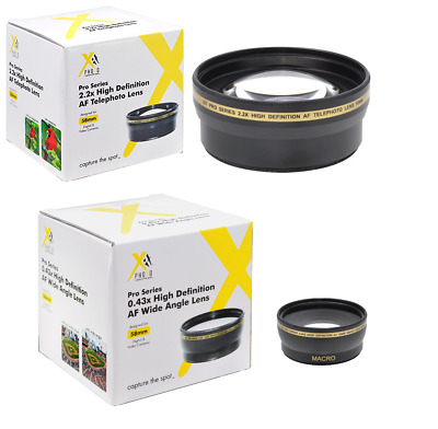 58mm XIT Pro HD 2.2x Telephoto + 0.43x HD Wide Angle Lens