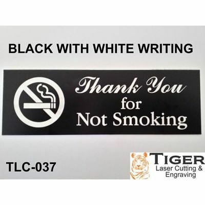 Thank You for Not Smoking Sign Plaque 20cm by 6cm UV Rated Outdoor Indoor