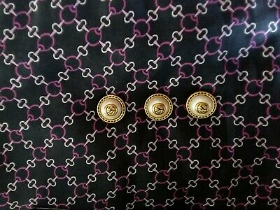 ❤100% Authentic  GUCCI  buttons lot of 3  size  20  mm  0,8 inch   Logo GG